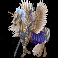 Winged riding unicorn Barb Dark Bay