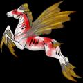Okřídlený poníkorožec  Highland Pony Černý ryzák