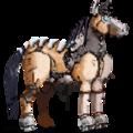 Pegasus-Reitpferd Lusitano Rappe