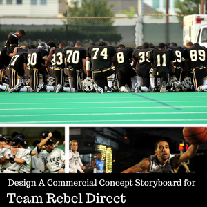 Design A Commercial Concept Storyboard for Team Rebel Direct