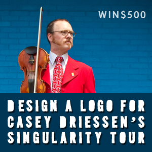 Design a Logo for Casey Driessen's The Singularity Tour
