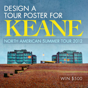 Design a Tour Poster for Keane