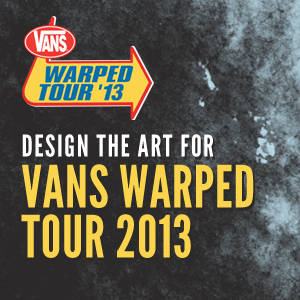 Design the Official 2013 Vans Warped Tour Art