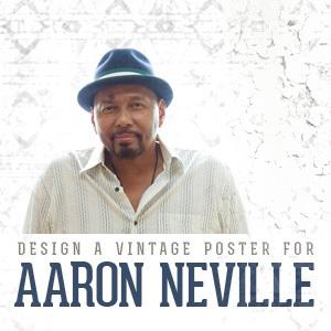 Design a Vintage Poster for Aaron Neville