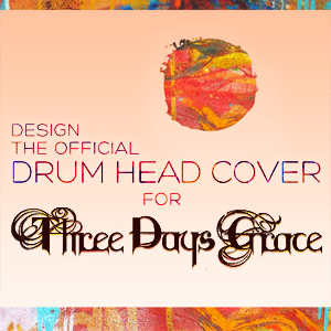 Design the Official Drum Head for Three Days Grace