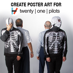 Design Poster Art For twenty | one | pilots