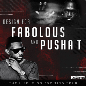 Design Merch for Fabolous and Pusha T