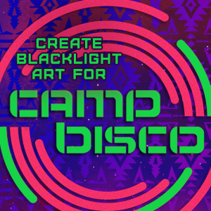 Create Black Light Art for Camp Bisco 2013