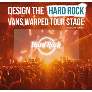 Design the Official Backdrop for Hard Rock's Warped Tour Stage
