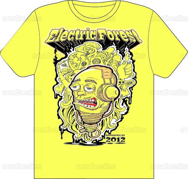 Electric Forest T-Shirt by paddy o'connor