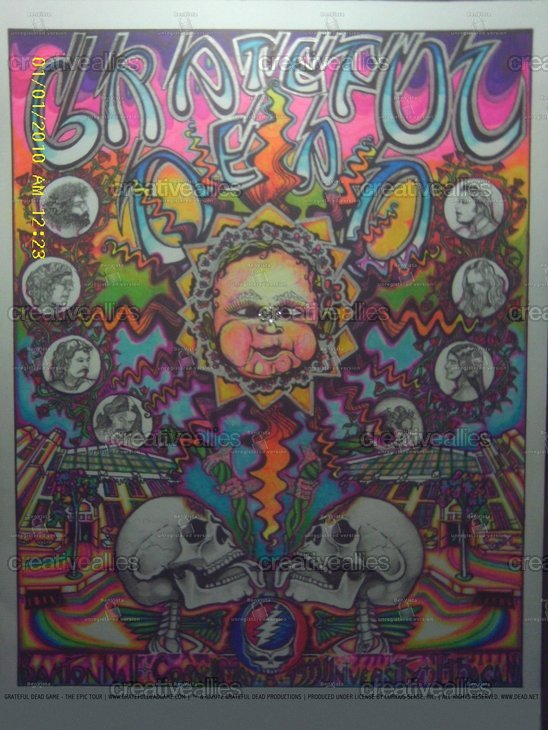 Grateful Dead Game - The Epic Tour Poster by Crypticalmystic on CreativeAllies.com