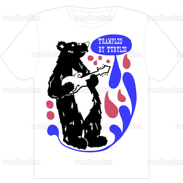 Trampled By Turtles T-Shirt by BearGoat777 on CreativeAllies.com
