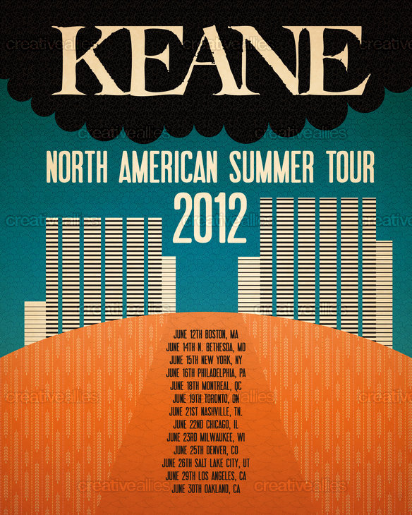 Keane Poster by alan b. on CreativeAllies.com