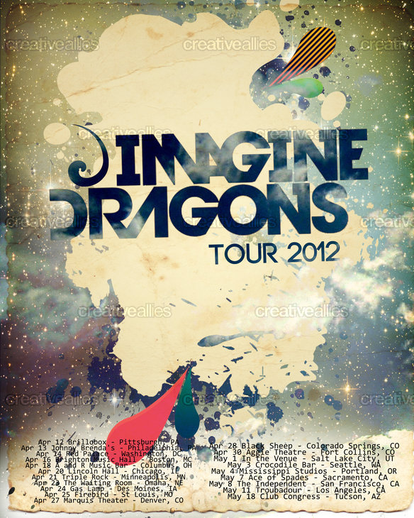 Creative poster design for pinterest - Design A Tour Poster For Imagine Dragons Creative Allies