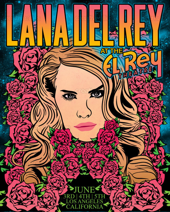 Lana Del Rey Poster By Buritomachine