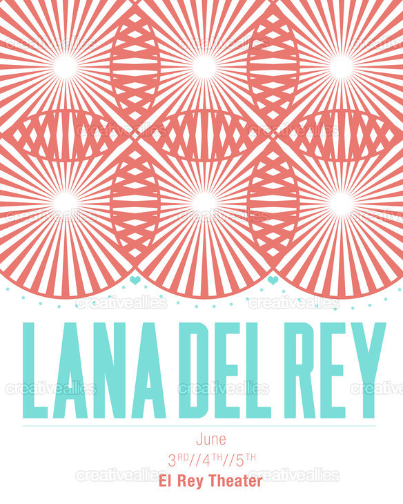 Lana Del Rey Poster by Missy on CreativeAllies.com