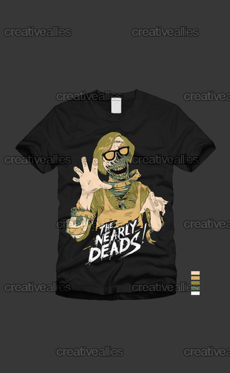 The Nearly Deads T-Shirt by Mokomoko on CreativeAllies.com