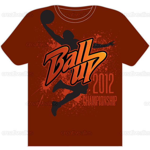 Ball Up T-Shirt by Miamiman