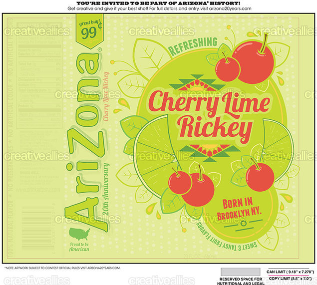 AriZona Can Label by cassiep on CreativeAllies.com