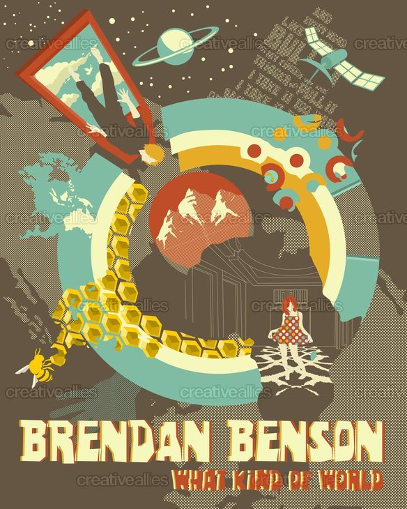 Brendan Benson Poster by Stelios Cfd on CreativeAllies.com