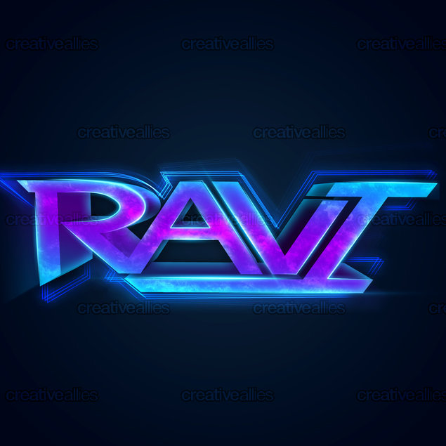 Ravi Name RAVI Logo by ayjayz