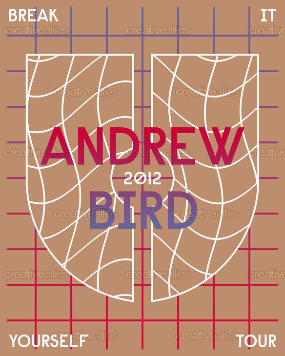 Andrew Bird Poster by Herdimas Anggara on CreativeAllies.com