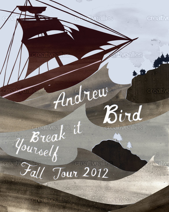 Andrew Bird Poster by Anneke Caramin on CreativeAllies.com
