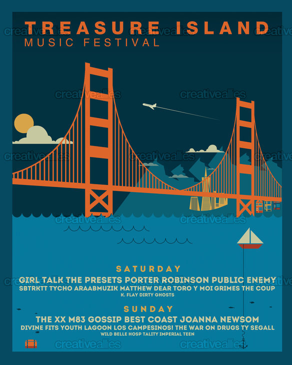 Treasure Island Music Festival Poster by rlcntrs on CreativeAllies.com