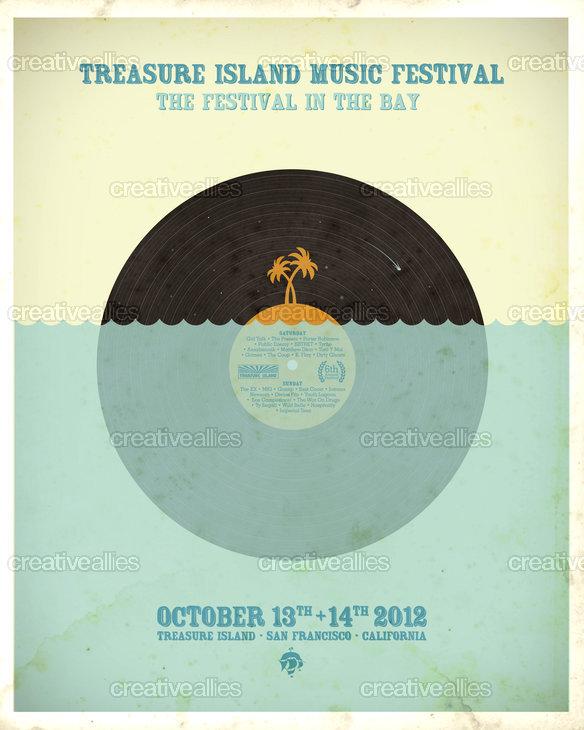 Treasure Island Music Festival Poster By Paddyroo On CreativeAllies