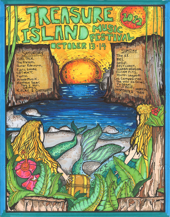 Treasure Island Music Festival Poster by MandalaMind on CreativeAllies.com