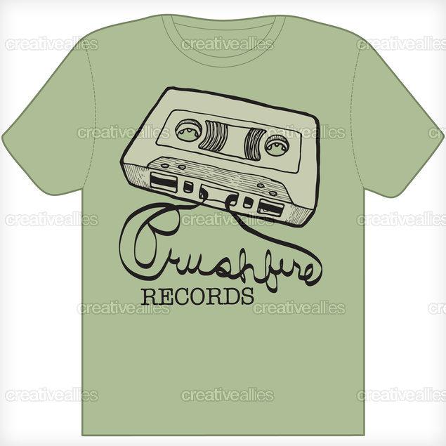 Brushfire Records T-Shirt by EDRK on CreativeAllies.com