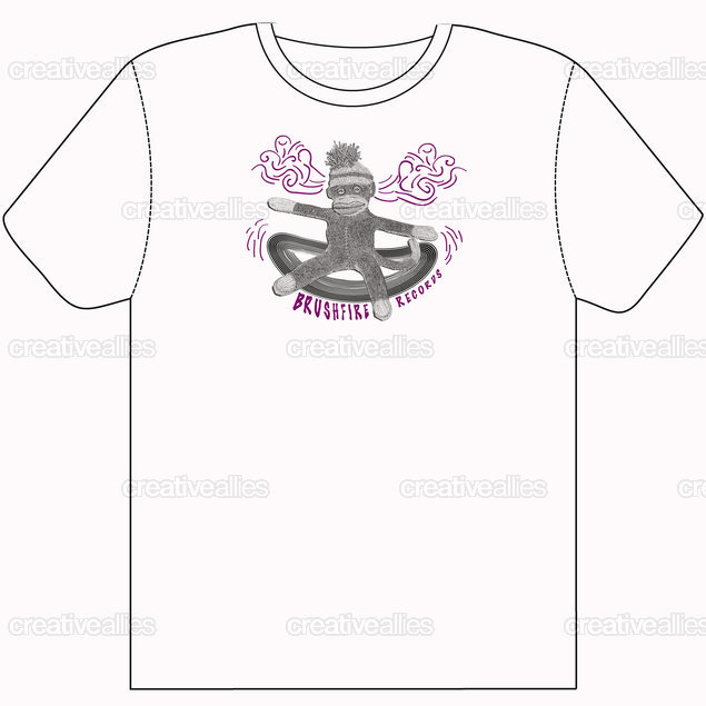 Brushfire Records T-Shirt by Vmeotti on CreativeAllies.com