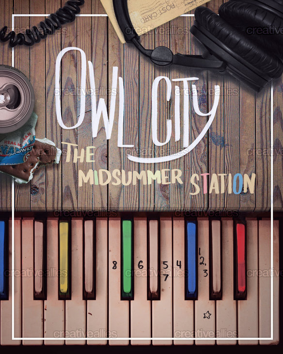 Owl City Poster by Alex Tomlinson on CreativeAllies.com