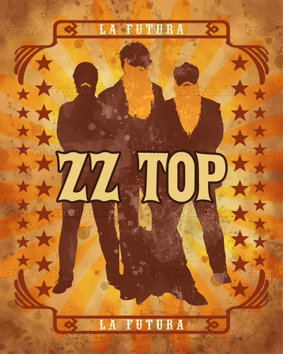 ZZ Top Poster by joshenn on CreativeAllies.com
