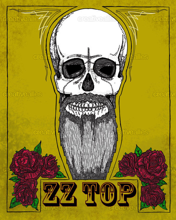 ZZ Top Poster by NicholausLee on CreativeAllies.com