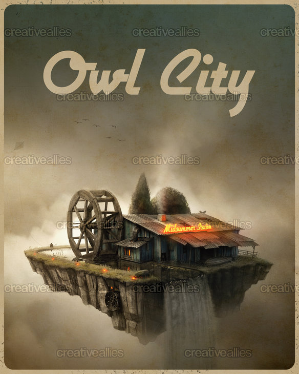 Owl City Poster by gedomenas on CreativeAllies.com