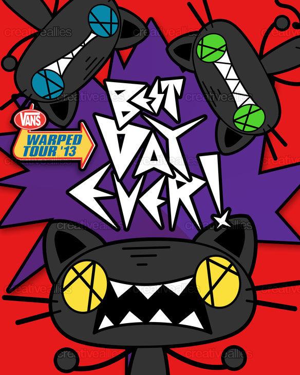 da1f8fa05c Vans Warped Tour Poster by gomigomi on CreativeAllies.com