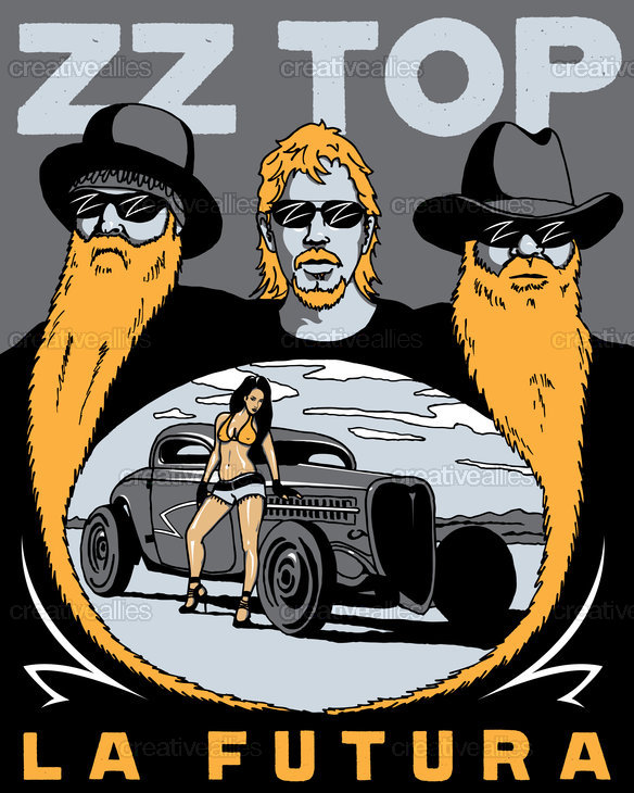 ZZ Top Poster by ibfresh on CreativeAllies.com