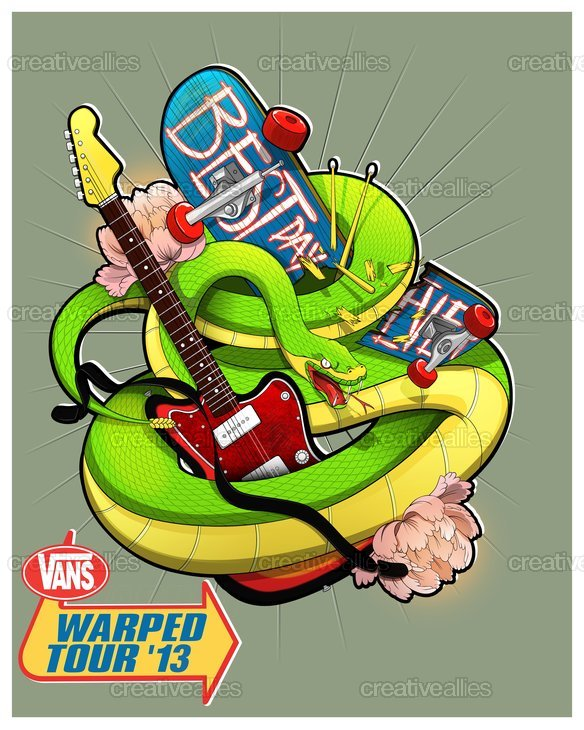Vans Warped Tour Poster by sergiosaucedo