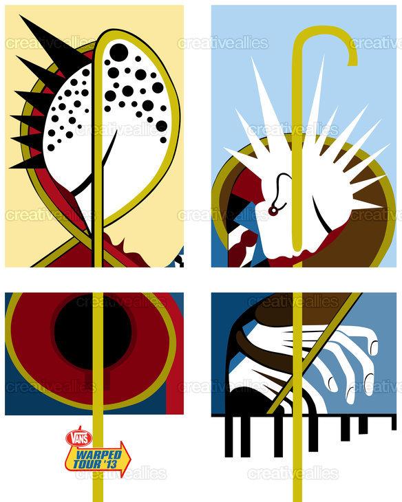 3e2b259a8c Vans Warped Tour Poster by MARACHOWSKA on CreativeAllies.com