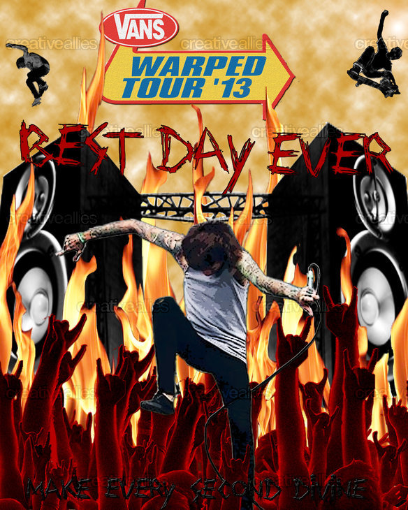 Vans Warped Tour Poster by Taylor Wirthlin on CreativeAllies.com