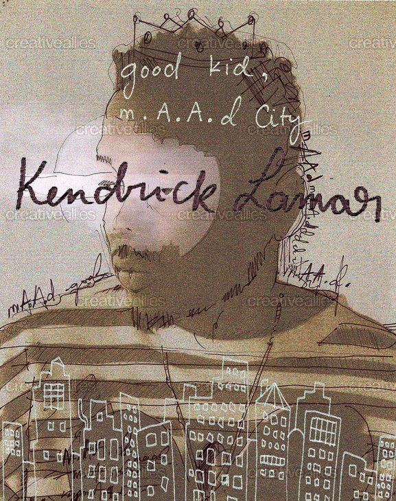 Kendrick Lamar Poster by Ysabelle Durant on CreativeAllies.com