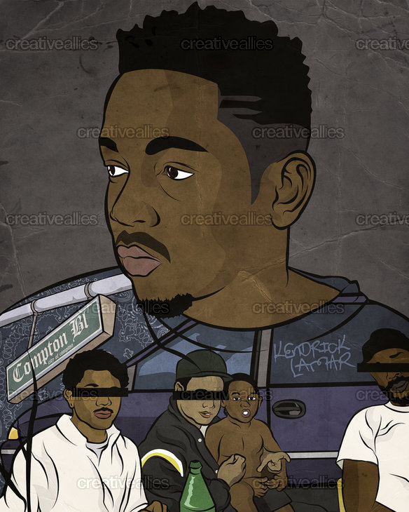 Kendrick Lamar Poster by Justin Lewis on CreativeAllies.com