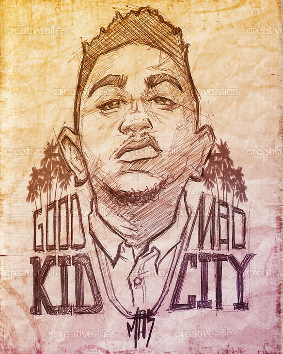 Kendrick Lamar Poster by Mark Stewart on CreativeAllies.com