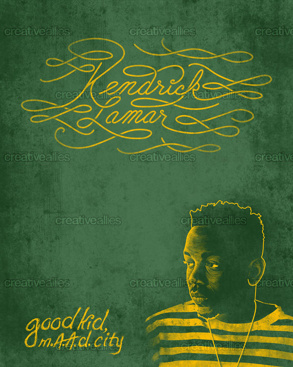 Kendrick Lamar Poster by Mmcgrathjr87 on CreativeAllies.com