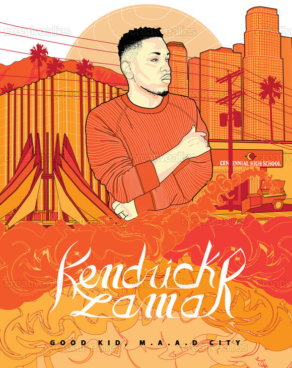 Kendrick Lamar Poster by hannsolo on CreativeAllies.com