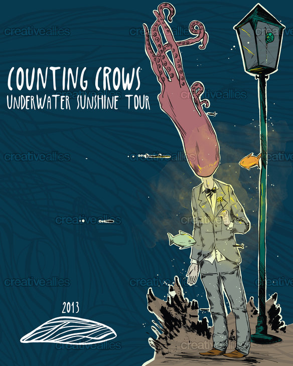 Counting Crows Poster by Esse on CreativeAllies.com