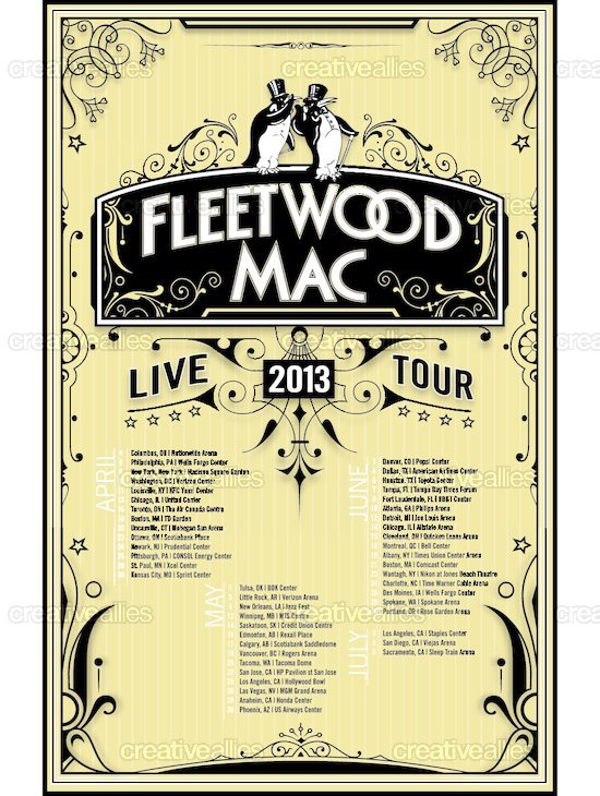 Fleetwood Mac Poster By Terry Hill