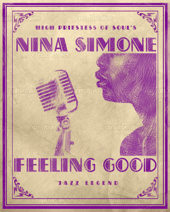 Nina Simone Poster by Lorenzo Belmonte on CreativeAllies.com