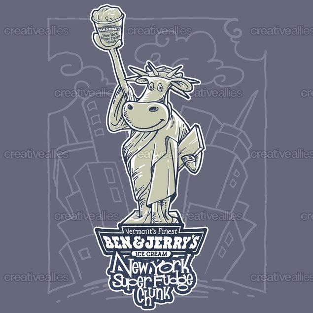 Ben & Jerry's Ice Cream Merchandise Graphic by faceit on CreativeAllies.com